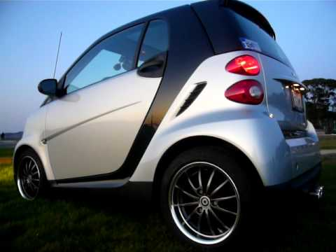lowered smart car with genius wheels pipe youtube
