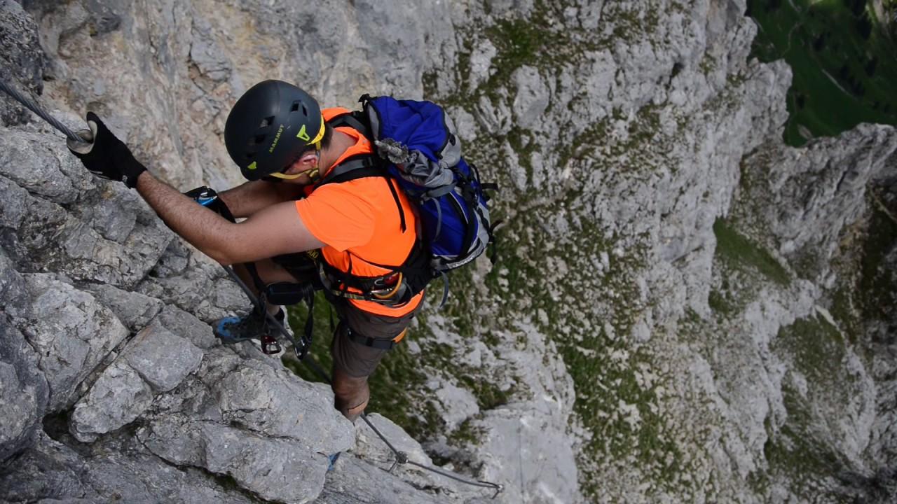 Klettersteig Köllenspitze : Köllenspitze klettersteig youtube