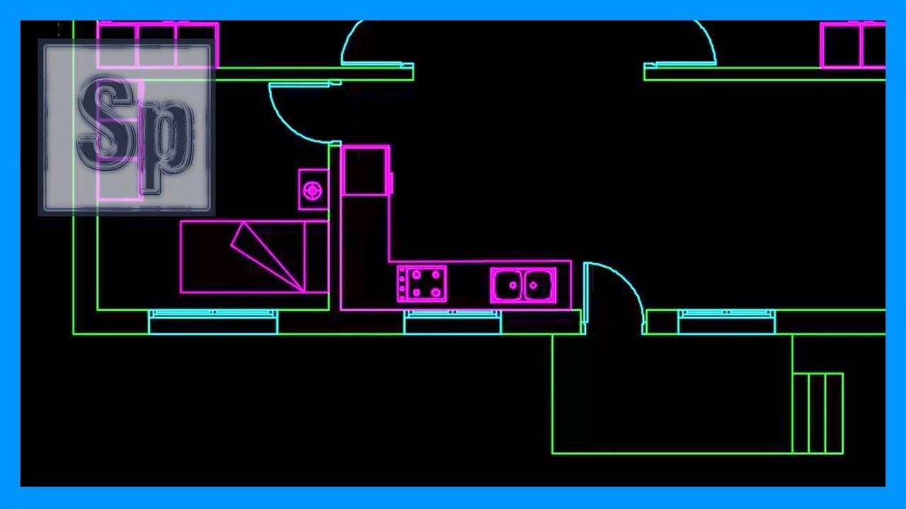 Autocad 2 2 dibujar plano casa de una planta en autocad - Dibujar planos de casas ...