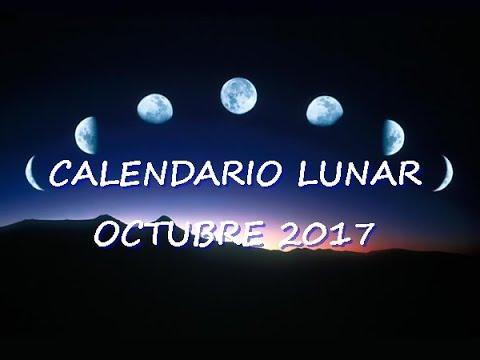 Calendario Lunar Octubre 2017 Youtube