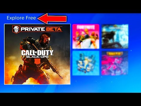 BLACK OPS 4 BETA IS IN THE PS4 STORE! (BLACK OPS 4 BETA FREE PS4 STORE)