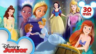 Every Time Sofia Meets a Disney Princess 👑| Sofia the First | Disney Junior screenshot 2