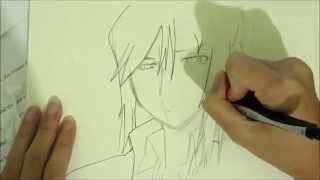 how to draw Kuroh (K project)