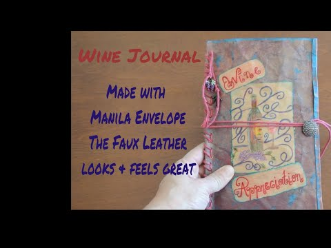 Wine Journal made with recycled junk mail, pages from books, majority is recycled material