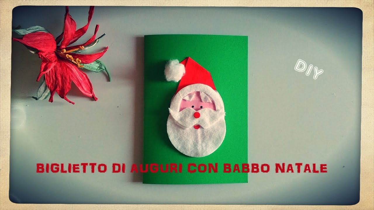 Ben noto 🎅LAVORETTI FAI DA TE ❄ BIGLIETTO AUGURI BABBO NATALE | DIY  ZD81