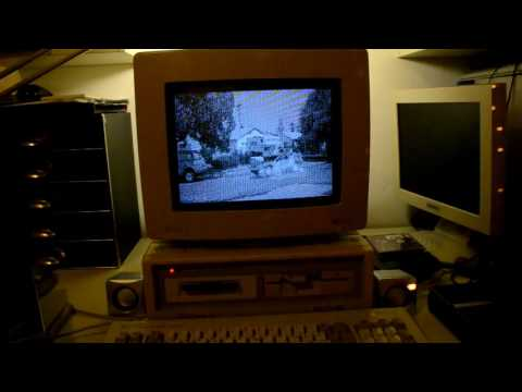 AMSTRAD PC playing movie with XDC player...