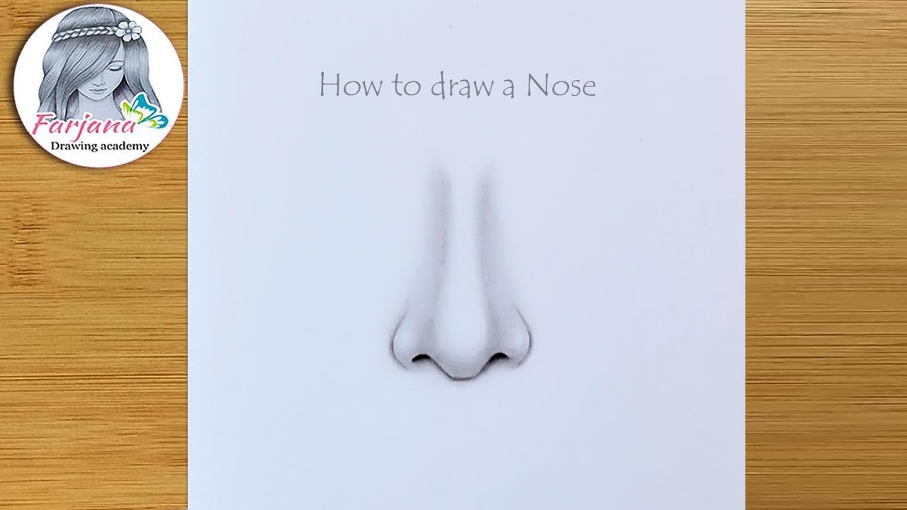 How to draw a nose - Step by step    #Shorts