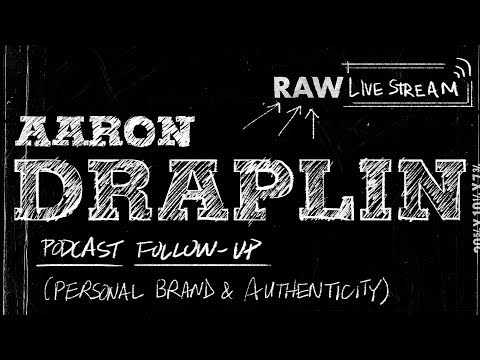🔴 Aaron Draplin Podcast Follow-up: Personal Branding & Authenticity