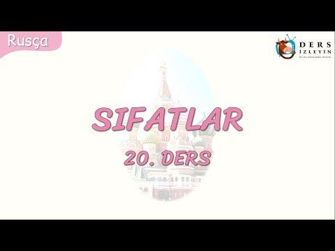 SIFATLAR 20.DERS (RUSÇA)