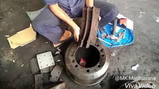 Ashok Leyland brake liner riveting
