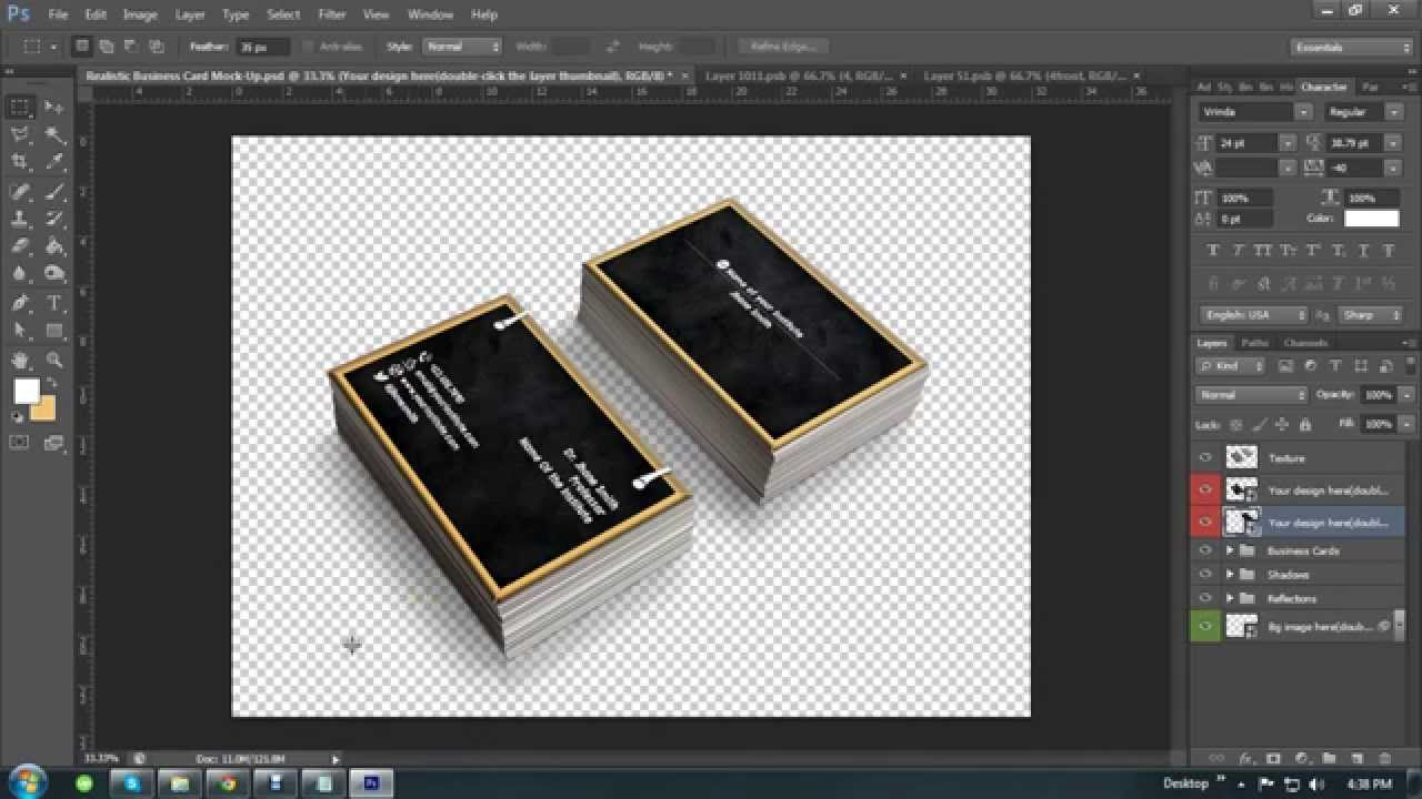 How to Create a Business Card Mockup in quick!|Tutorial for Business ...