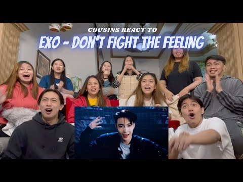 COUSINS REACT TO EXO 엑소 'Don't fight the feeling' MV