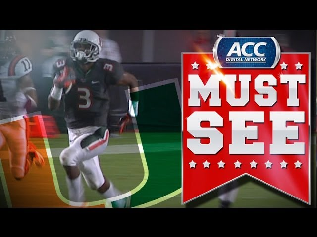 ACC Must See Moment | MIA WR Stacey Coley Turns on the Jets for 81-Yard TD | ACCDigitalNetwork