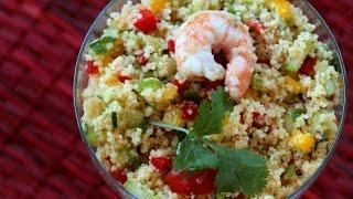 Couscous Shrimp Salad  سلطة الكسكس بالجمبري - CookingWithAlia - Episode 426