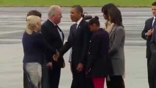 Video: US President Obama arrives in Northern Ireland for G8 Summit