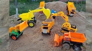 Blocks Toys For Kids Truck Excavator Sand For Children | Kids Songs Videos October 2018