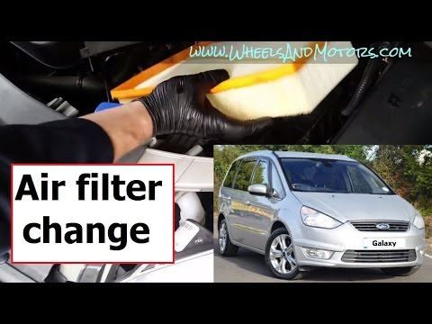 How To Replace Engine Air Filter Ford Galaxy S Max 2 0 Tdci Youtube