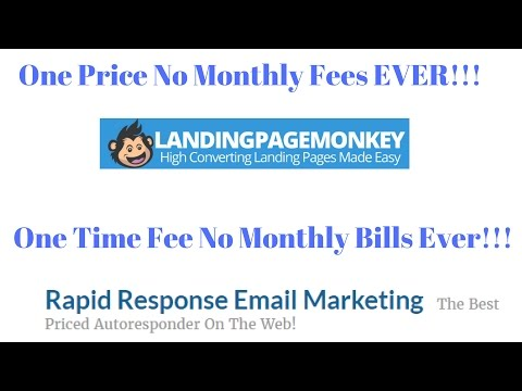Landing Page & Auto-responder only one price for ever no monthly bills ever