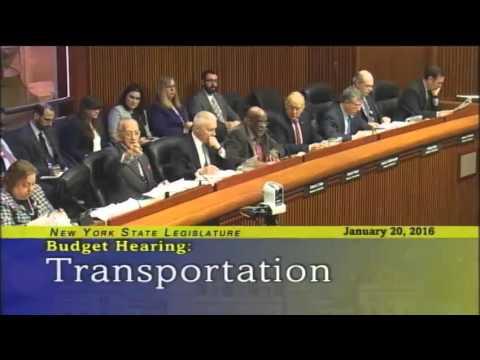Joint Legislative Budget Hearing on Transportation - 1/20/16