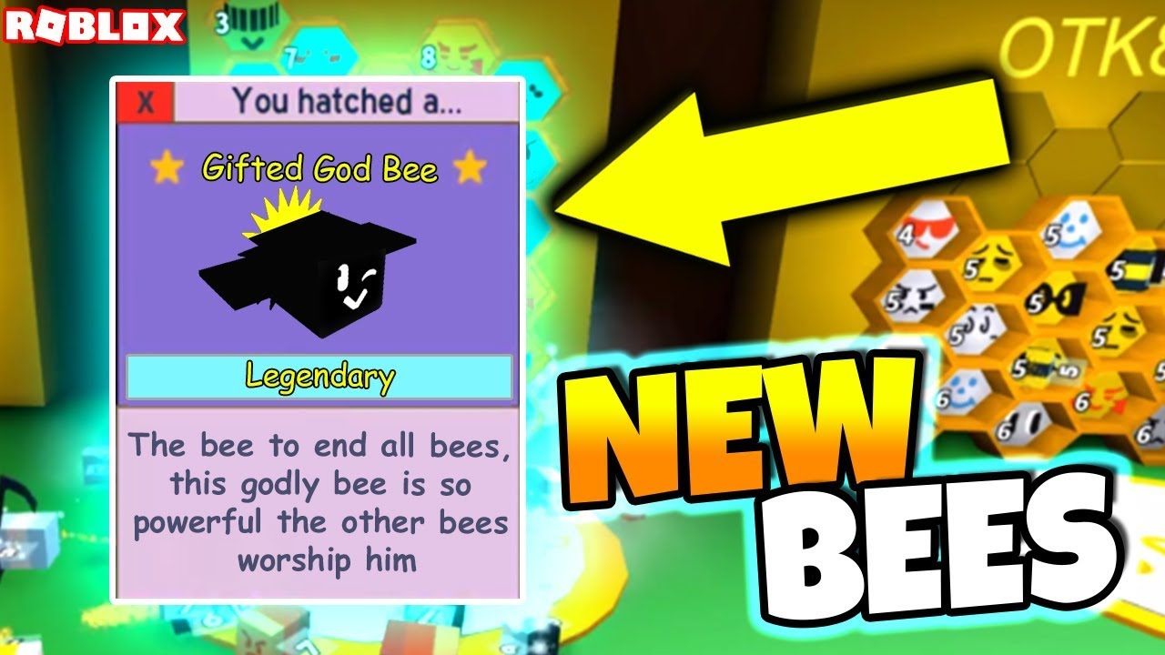 GOD BEE + NEW GIFTED AND LEGENDARY BEES!! (Roblox Bee ...