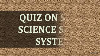 Quiz On Space Science solar system