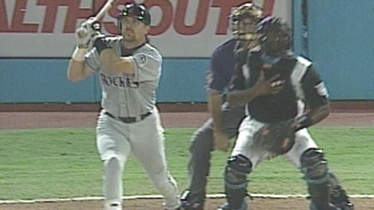 Larry Walker And Andres Galarraga Launch Back To Back Homers