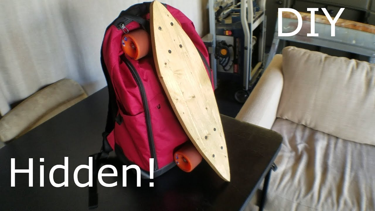 Making an Invisible Cruiser Skateboard Backpack Attachment Using a Belt (No  Sewing Involved!) 213c964892e73