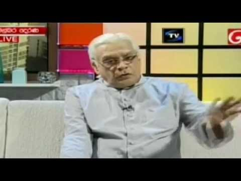 Emeritus Professor J. B. Disanayake with derana (short)
