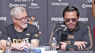 Manny Pacquiao FULL POST FIGHT PRESS CONFERENCE vs. Adrien Broner | Boxing