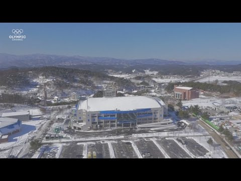 Stunning aerial views of PyeongChang 2018 Winter Games sites