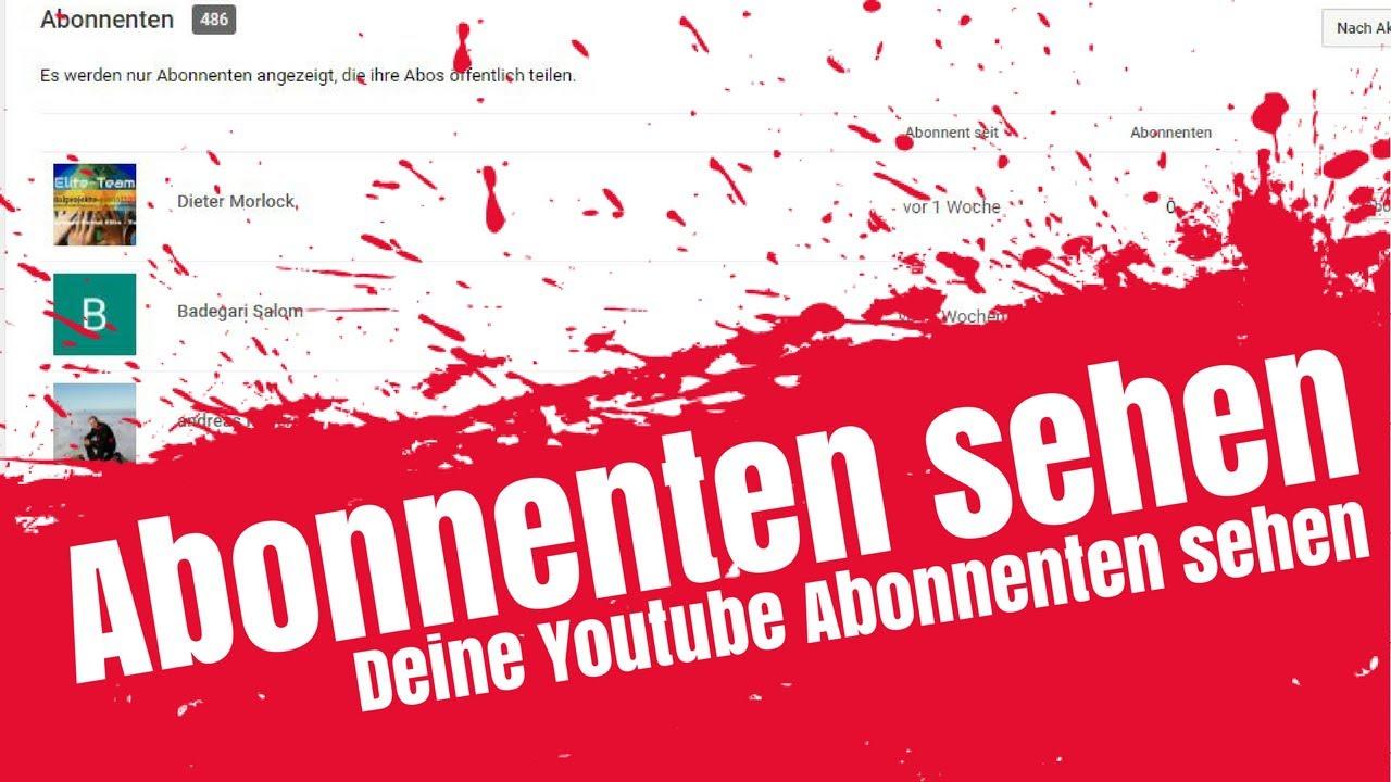 Youtube Abonnenten Sehen