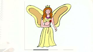 How to draw Fairy- in easy steps for children. beginners