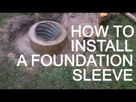 FlagDesk.com | How To Install A Flagpole Foundation Sleeve