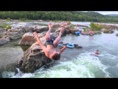 potomac river swimming rock diving west virginia maryland cliff harpers ferry