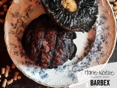 Recette BBQ Burger d'orignal fumé BARBEX - granules bois de chêne rouge