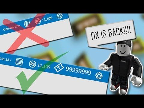 If ROBLOX Got Tix Back
