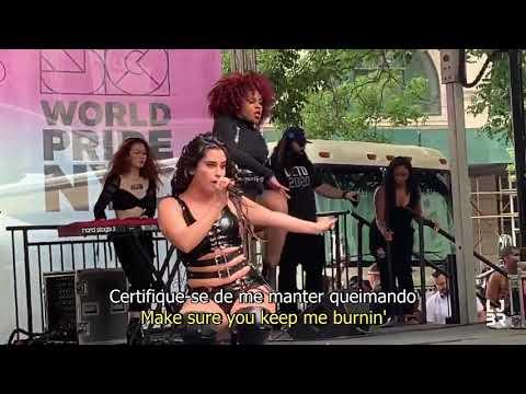 Lauren Jauregui - Burnin&39; new song  at NYC Pridefest tradução