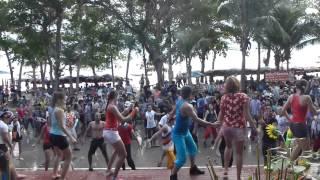 Songkran 2012 in Thailand with salsa Pattaya