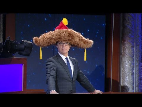 Best Of The Late Show's Big Furry Hat - YouTube