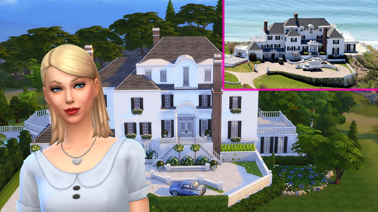 Celebrity Mansion | Speed Build | The Sims 4 CC - YouTube