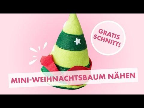 DIY tutorial: Nähanleitung Weihnachtsdeko Tannenbaum - Weihnachtsbaum aus Filz selber nähen