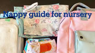 Nappy guide for nursery