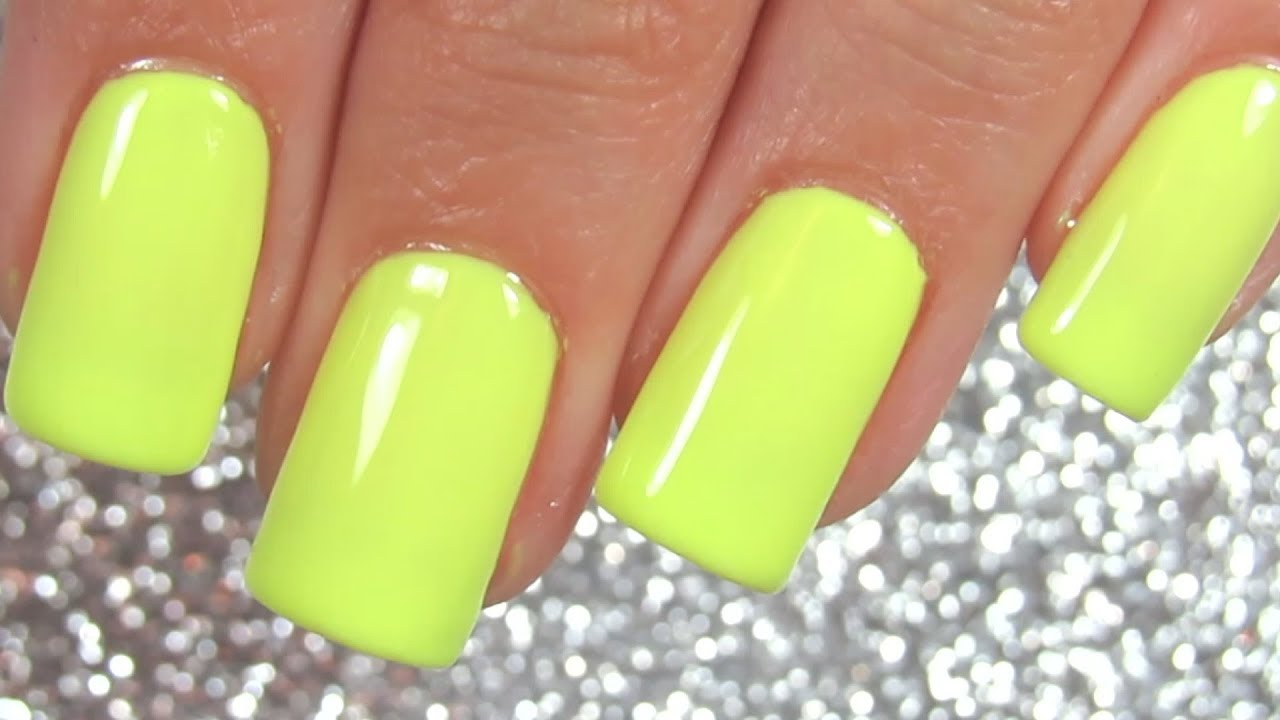Watch Me Paint My Nails Neon Yellow Nail Show