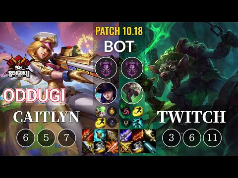 SG OdduGi Caitlyn vs Twitch Bot - KR Patch 10.18
