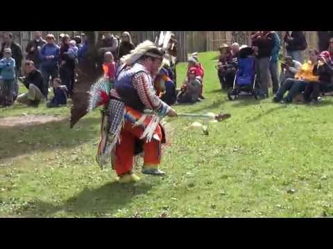 Iroquoian Longhouse Village and First Nation Dancers, Crawford Lake, Canada