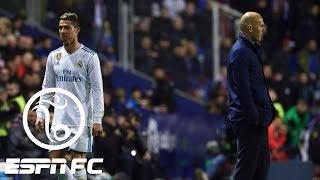 Cristiano Ronaldo subbed off in Real Madrid's 2-2 draw vs. Levante   ESPN FC