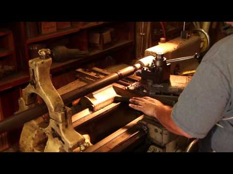 Vance Planer/Matcher Project:  Turning a Pulley Shaft and Making Hold Down Brackets