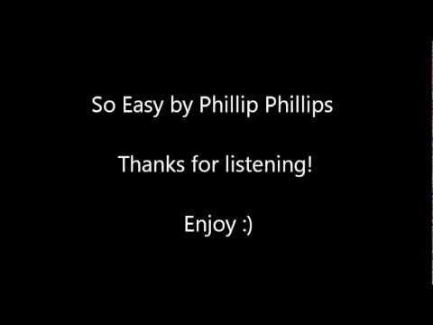 So EasyPhillip Phillips   Elizabeth Ariel