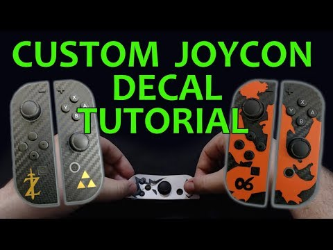CUSTOM JOY-CON Decal/Stickers Tutorial - CRICUT