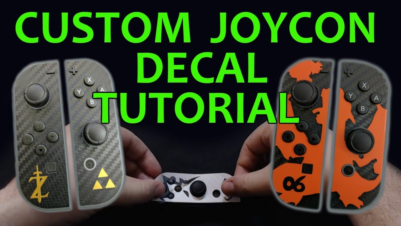 Custom joy con decal stickers tutorial cricut
